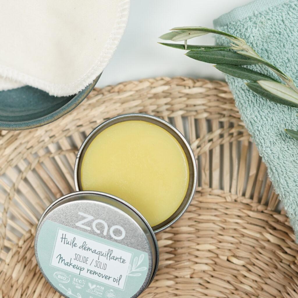 Zao essence of nature Solid Make-up Remover Oil 2101802 schoonheidssalon beauty4people nuenen